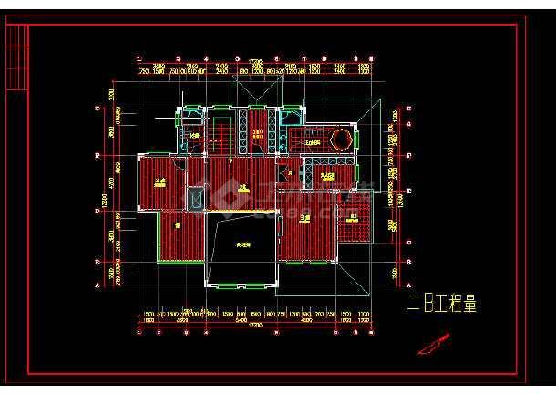 整套欧式别墅设计装修全套CAD图纸