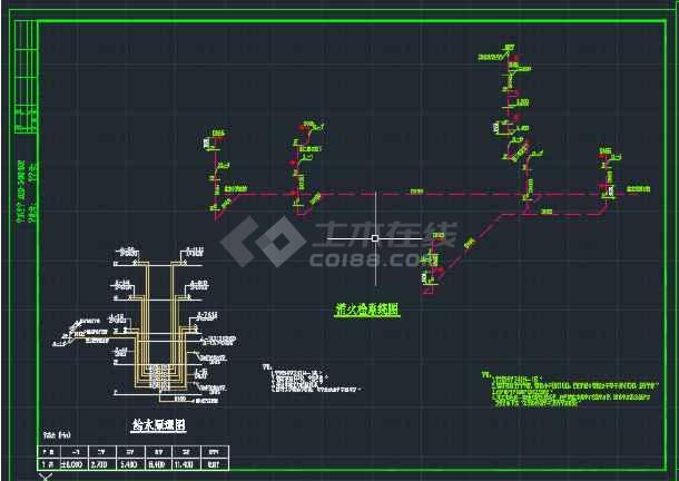 贵州贵阳某多层建筑给排水CAD平面图-图1