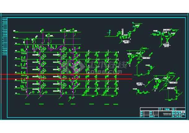 安徽某六层加跃层住宅给排水施工图-图1