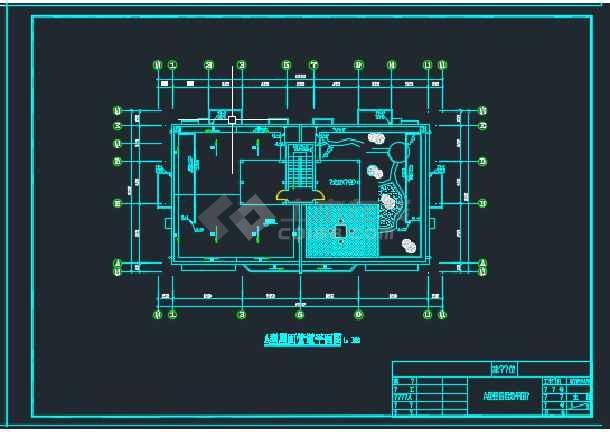 浙江某教师公寓给排水设计CAD图纸-图1