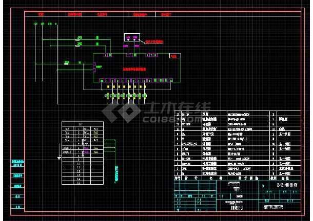 配电室电容补偿柜二次原理图-图2
