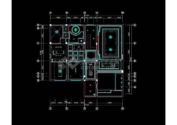 一套豪华欧式别墅室内装修图纸(完整)-图1