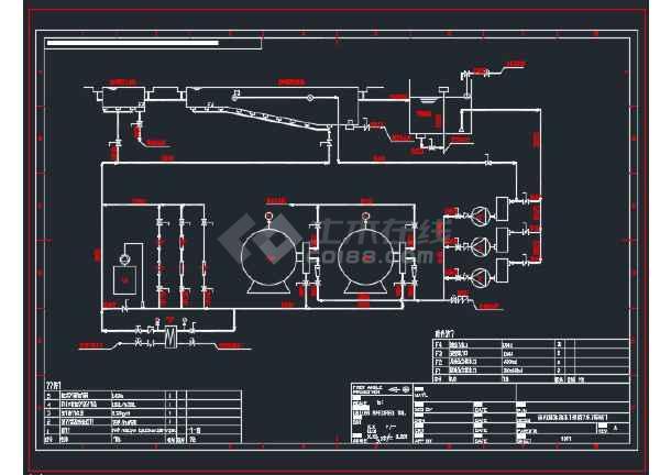 扬州某酒店国际泳池水处理设计CAD图纸 -图2
