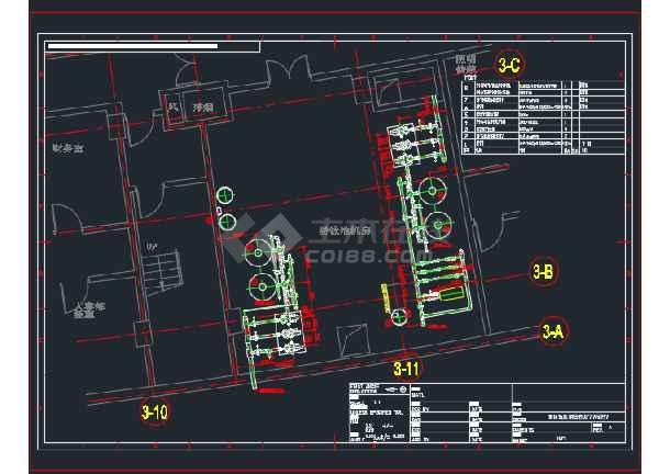 扬州某酒店国际泳池水处理设计CAD图纸 -图3