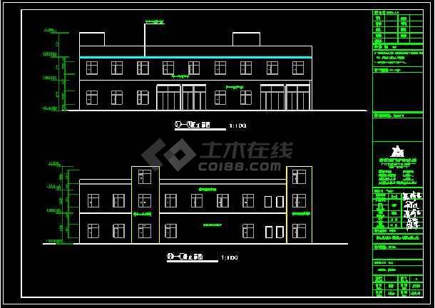 二层框架结构卫生院污水处理CAD施工图-图2