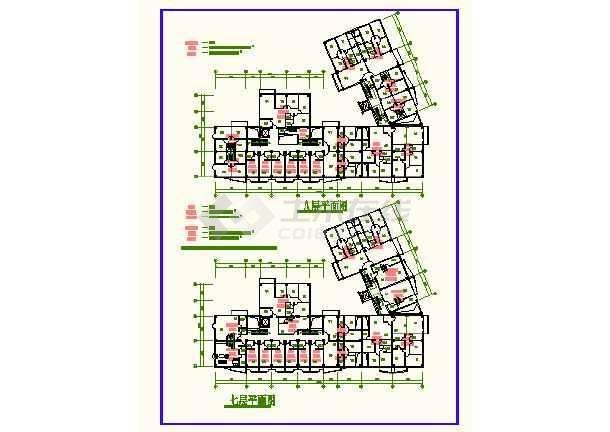 南京某地时代广场CAD平面建筑设计图-图3
