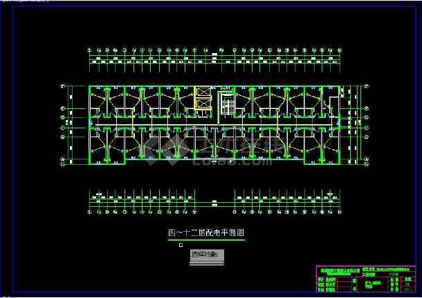 某疗养院建筑水、电、消防全套设计图-图1