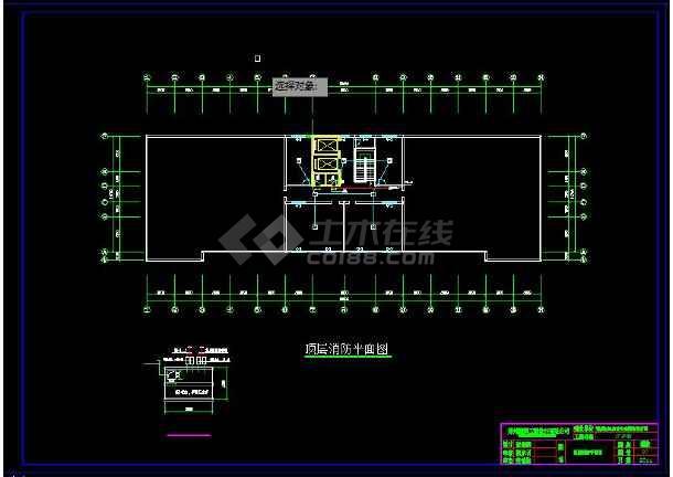 某疗养院建筑水、电、消防全套设计图-图2