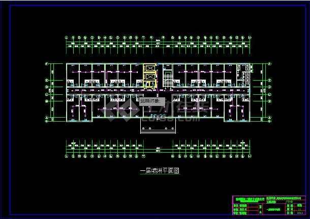 某疗养院建筑水、电、消防全套设计图-图3