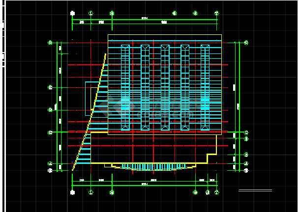 某学校体育馆建筑CAD设计方案图纸-图3
