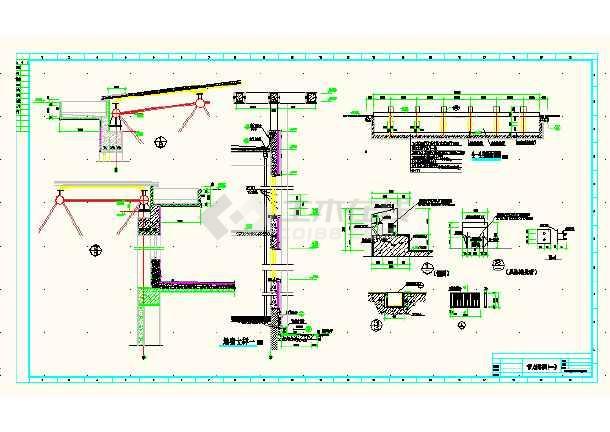 某城市体育馆建筑工程平面CAD设计图-图1