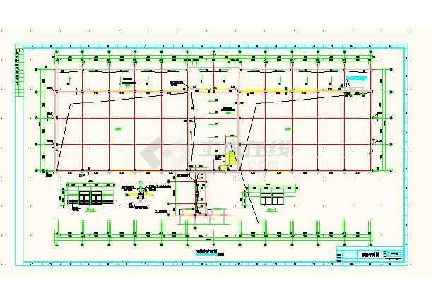 某城市体育馆建筑工程平面CAD设计图-图3