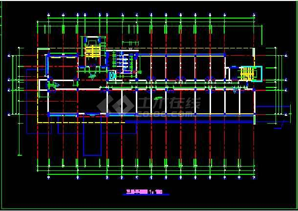 某学院行政办公楼建筑cad设计平面图