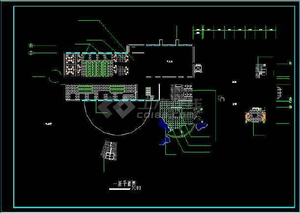 某地一套比较详细的情报楼装修设计图-图2