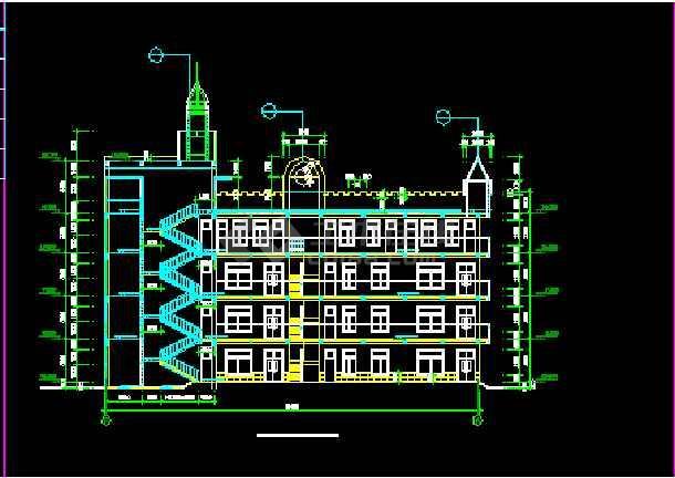 某市幼儿园建筑cad设计施工平面图纸