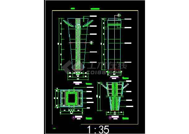 非常齐全的13个柱装饰建筑详细图纸-图1