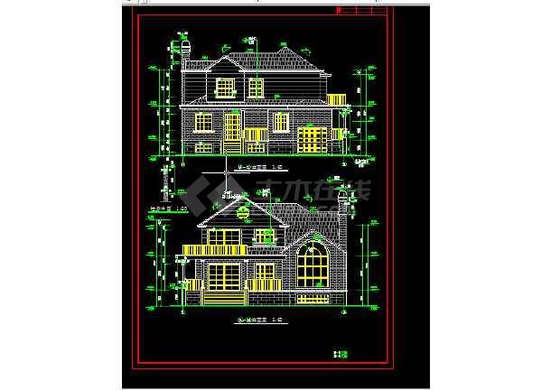 多层办公楼建筑施工CAD设计方案详图-图1