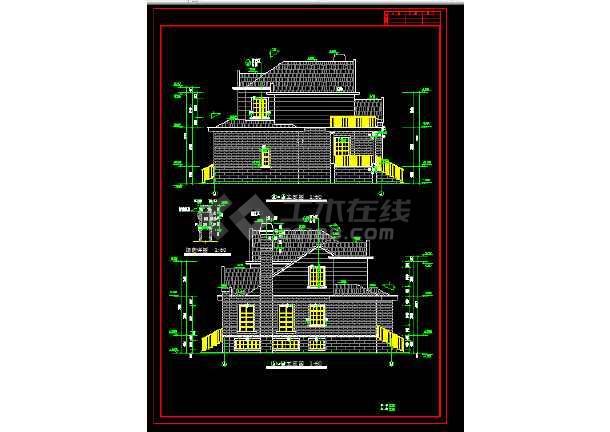 多层办公楼建筑施工CAD设计方案详图-图2