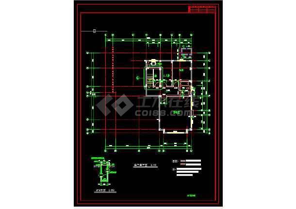 多层办公楼建筑施工CAD设计方案详图-图3