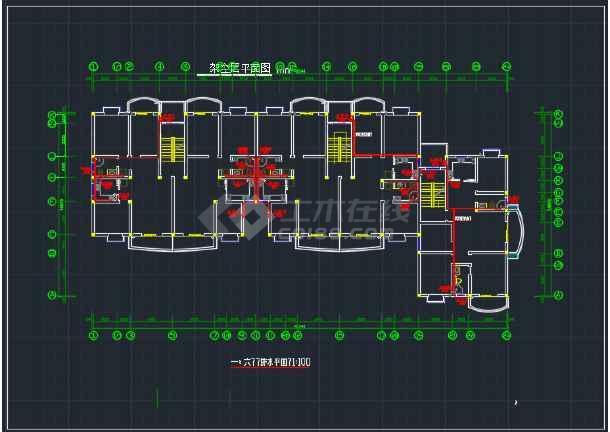 某办公楼二号区域的二号给排水cad施工详图-图3