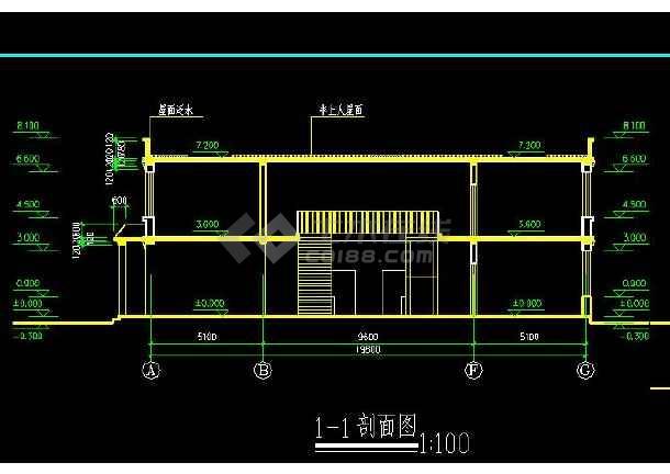 某地大型藏式风格门诊楼建筑施工图(含设计说明)-图1