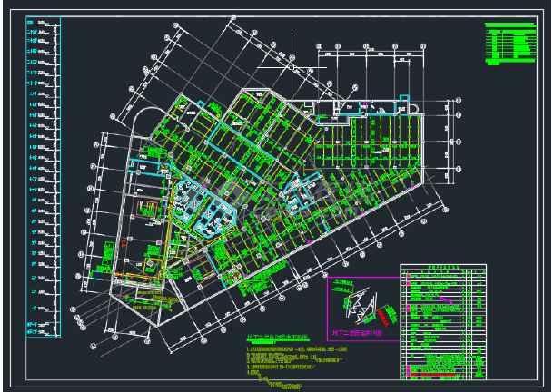 某地区二十五层大厦给排水设计全套CAD设计图纸-图1