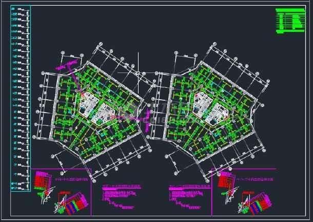 某地区二十五层大厦给排水设计全套CAD设计图纸-图2