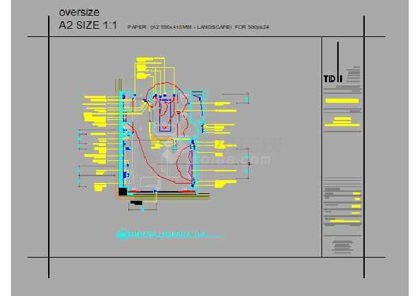 广州某办公楼二十二层平面设计简图-图2