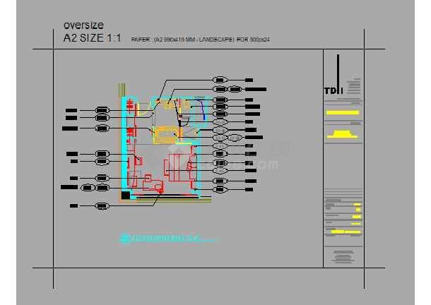 广州某办公楼二十二层平面设计简图-图3