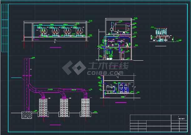 吨煤锅炉房全套暖通设计施工cad图纸图片