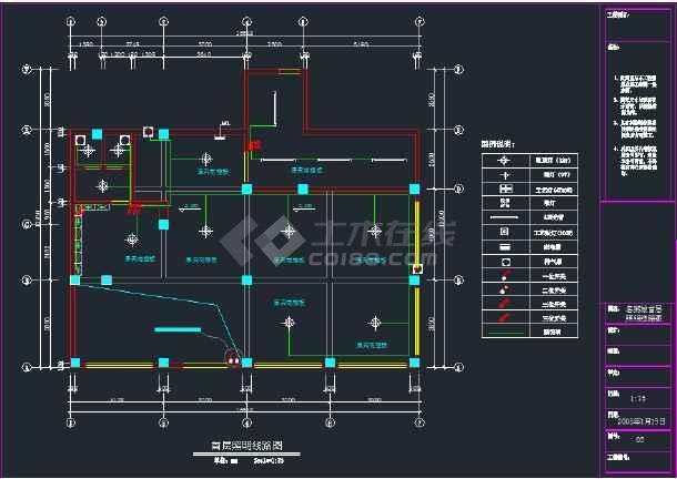 名粥城消防报建全套电路图,配电线路结线图