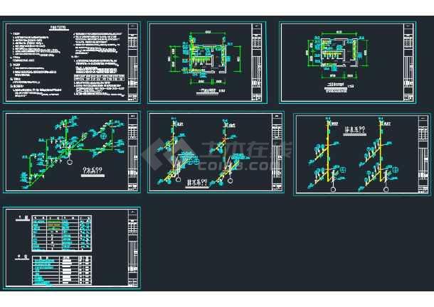 某公共卫生间CAD给排水v图纸图纸图纸美制7.62方案图片