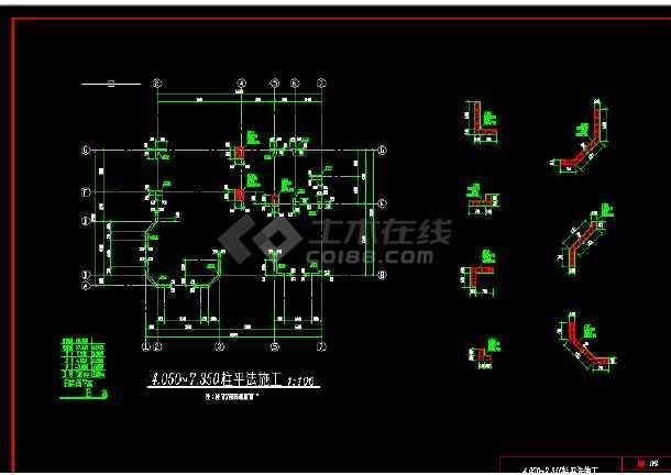 多层办公楼建筑施工CAD设计详图-图1