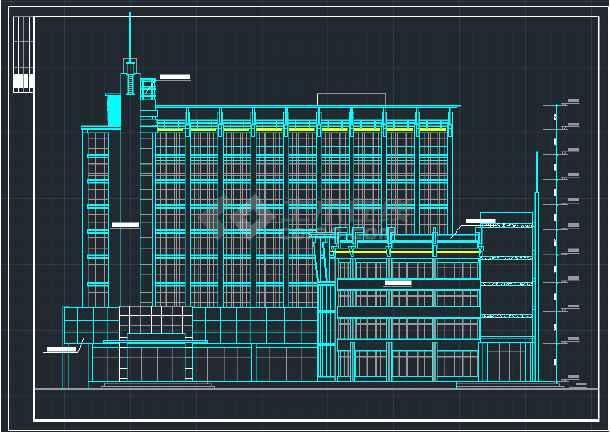 某地区综合写字楼建筑设计CAD方案施工图-图1