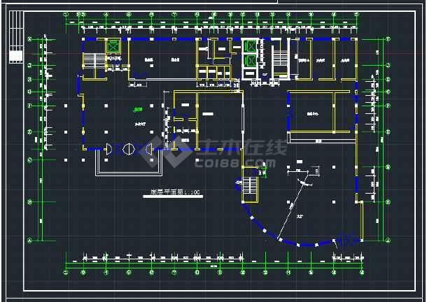 某地区综合写字楼建筑设计CAD方案施工图-图2