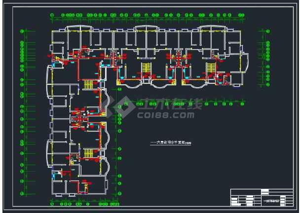 某办公楼一号区域的二号给排水cad施工详图-图3