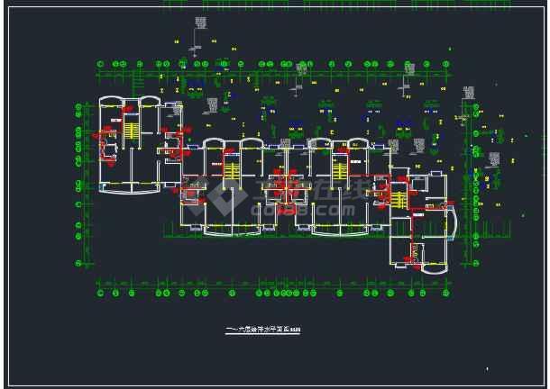 某办公楼二号区域的一号给排水cad施工详图-图2