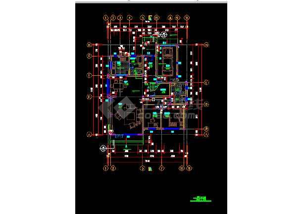 三层小楼房建筑施工cad设计图纸图片2