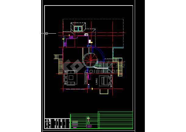 高级写字楼建筑施工CAD设计图纸-图2