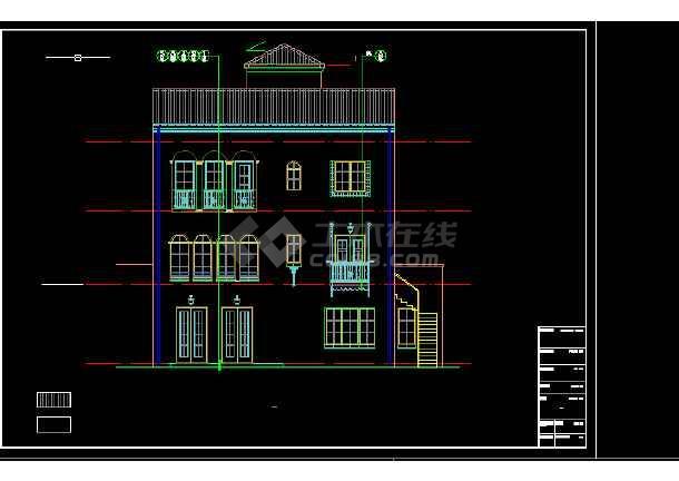 高级写字楼建筑施工CAD设计图纸-图3