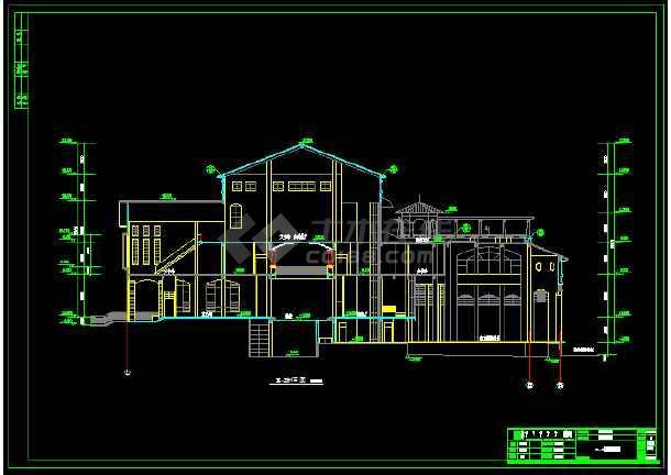 某地一套详细的社区中心建筑施工图纸-图2