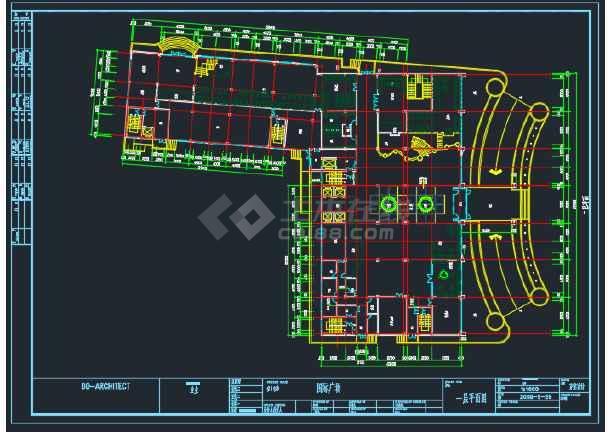 蚌埠某国际广场建筑工程平面CAD图-图1