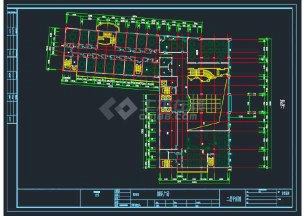 蚌埠某国际广场建筑工程平面CAD图-图2