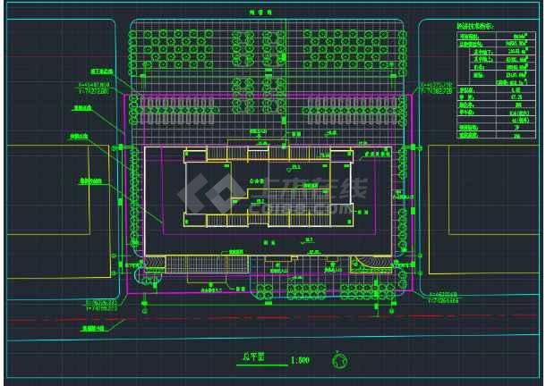 海南高级写字楼建筑设计CAD平面图-图1