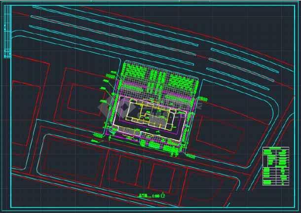 海南高级写字楼建筑设计CAD平面图-图3