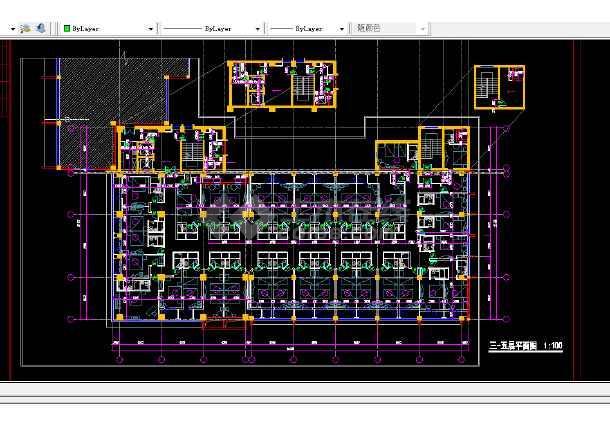青岛火车站店建筑施工全套CAD平面图纸-图2