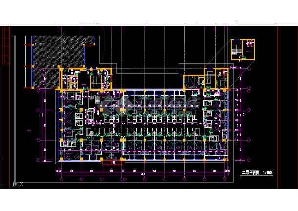 青岛火车站店建筑施工全套CAD平面图纸-图3