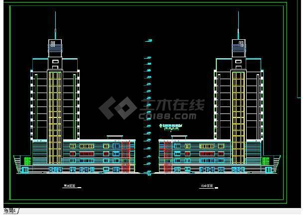 东城建筑设计施工方案全套CAD剖面图-图1