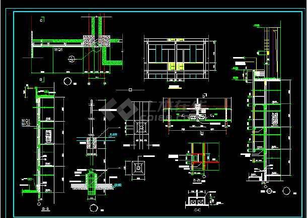 东城建筑设计施工方案全套CAD剖面图-图2