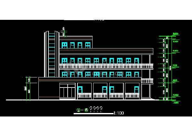 一套图纸教学楼CAD建筑设计施工小学电话西元小学庄图片